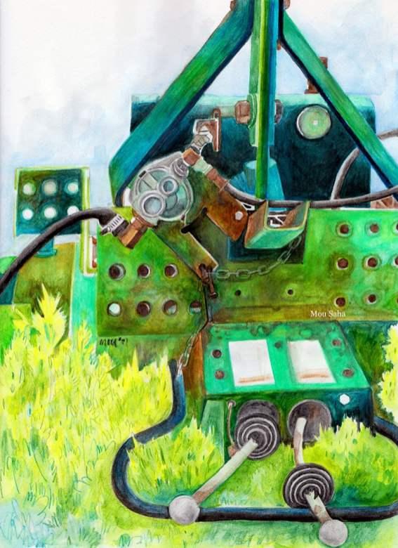 MouSaha_DoodlewashBlog_FC_AlbrechtDurerWatercolorPencils_RustyFarmEquipment