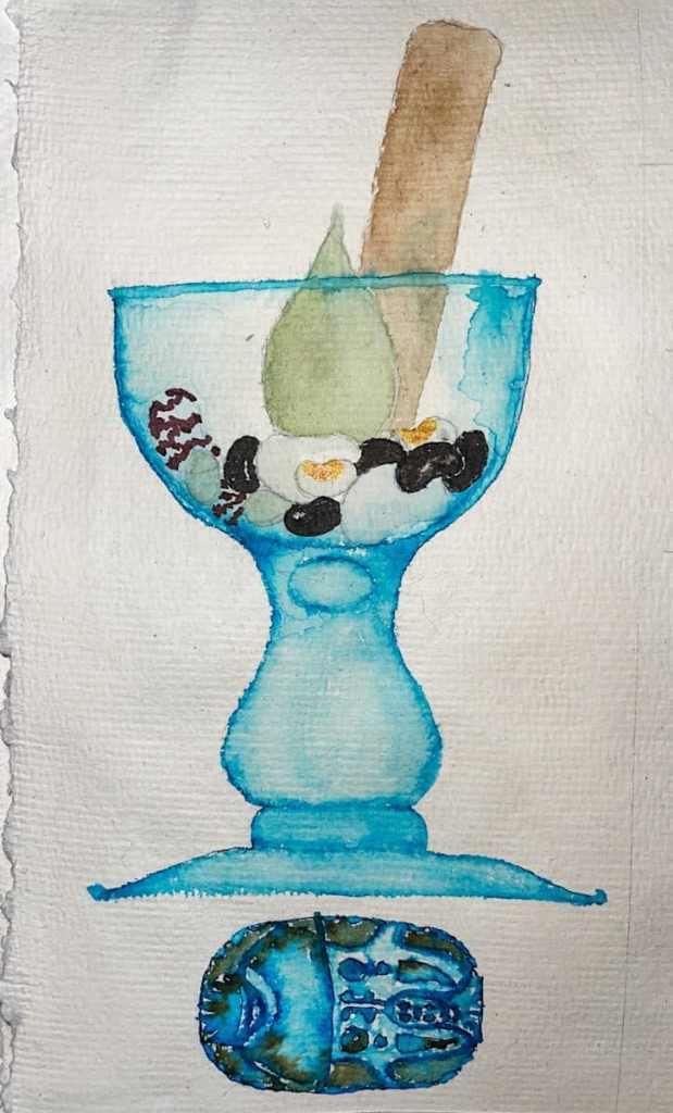 For my recipe book, watercolor and ink. W21 6 1 RECIPE RITUAL-9677