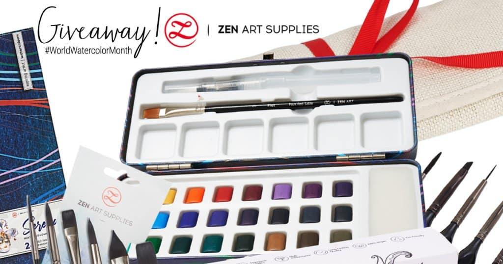 ZenArt Supplies Watercolor World Watercolor Month 2021 Sharing Image