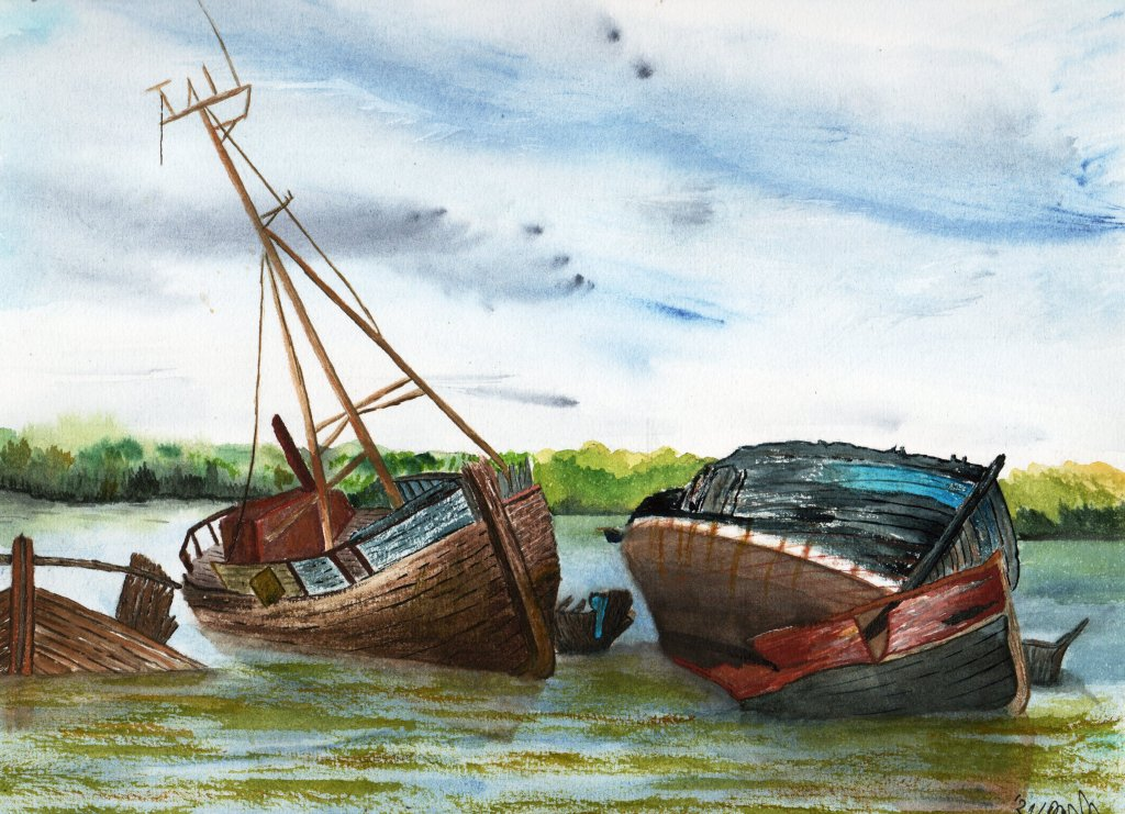 There are my last 3 paintings. I use reference photos. boatwreckslighhouse_stormshipwreck