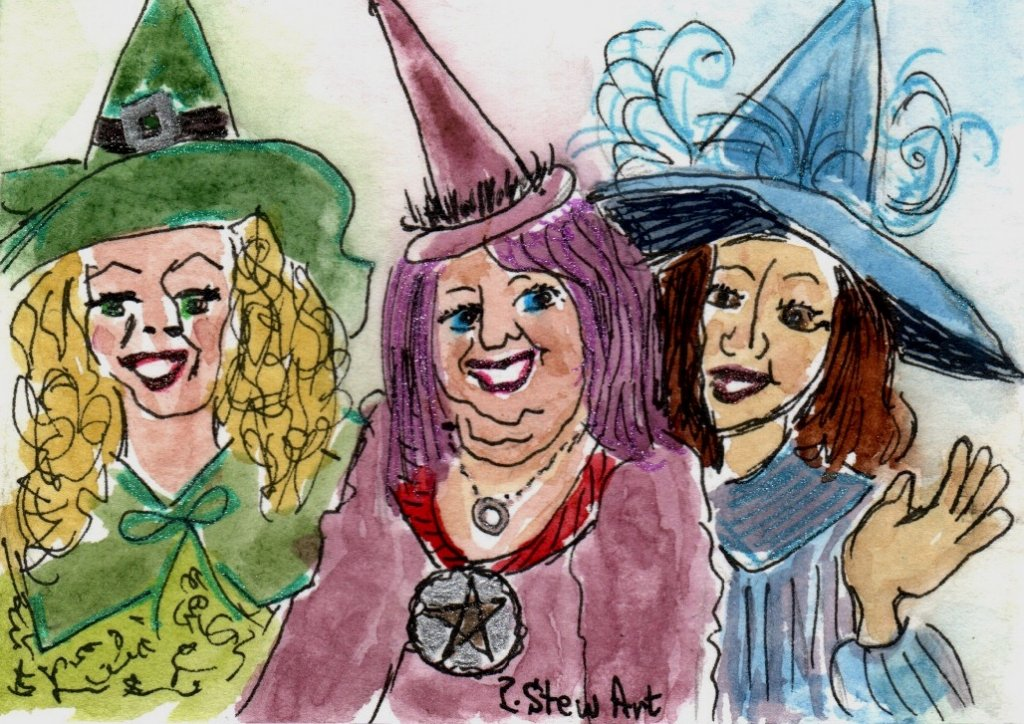 Three Witches, ACEO size #1331-three witches