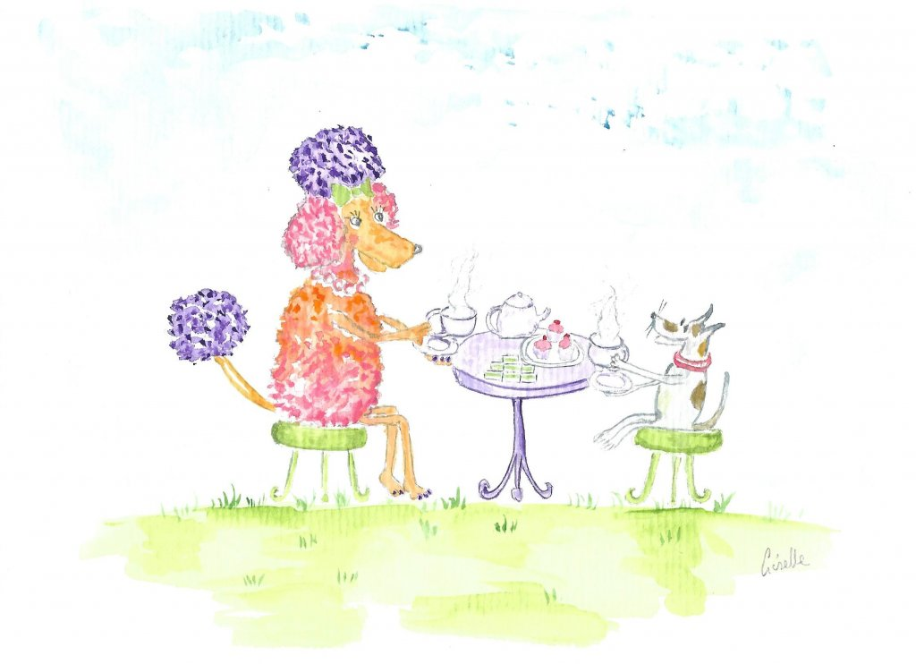 Fifi and Fred having tea Fifi and Frend have tea