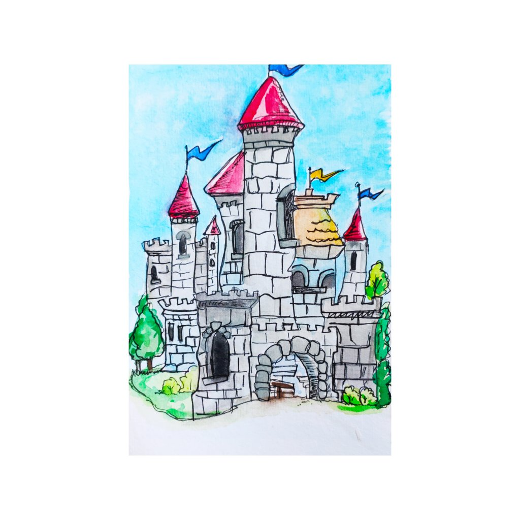 Day 4: castle Tried to paint this. Definitely not my best. But i have tried it IMG_20210804_102811
