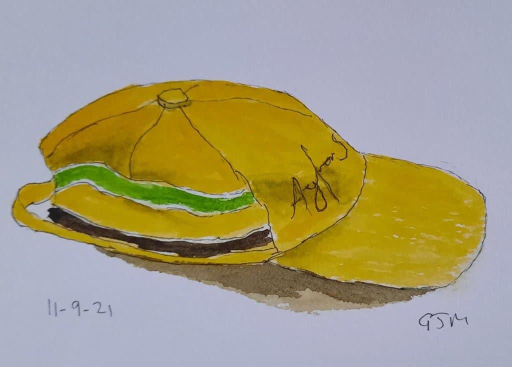 My Ayrton Senna cap. #doodlewashseptember2021 Day 12 Hat #worldwatercolorgroup 20210911_193937