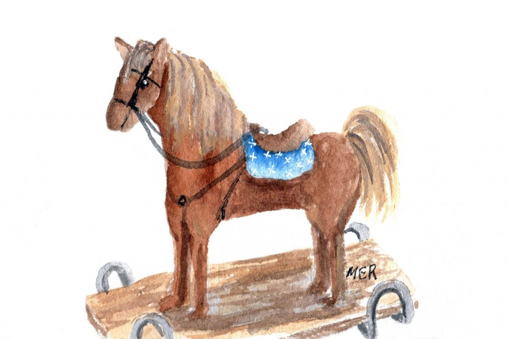 9/25/21 Horse This prompt brought back memories of the rocking horse I got for Christmas when I was