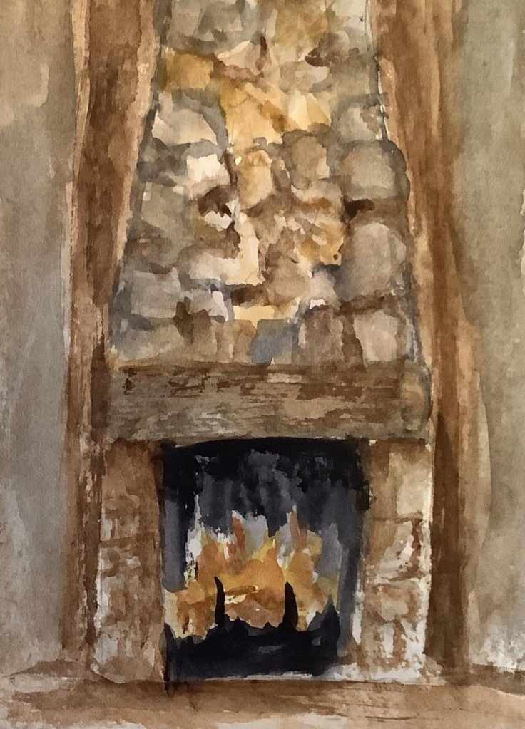 #doodlewashseptember2021 day 23 fireplace IMG_3526