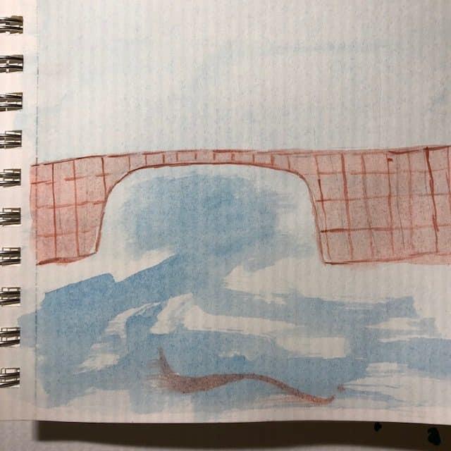 #doodlewashseptember2021 bridge, plum IMG_7464IMG_7465