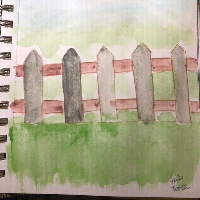 #doodlewashseptember2021 mountain, candle, fence IMG_7495IMG_7496IMG_7497