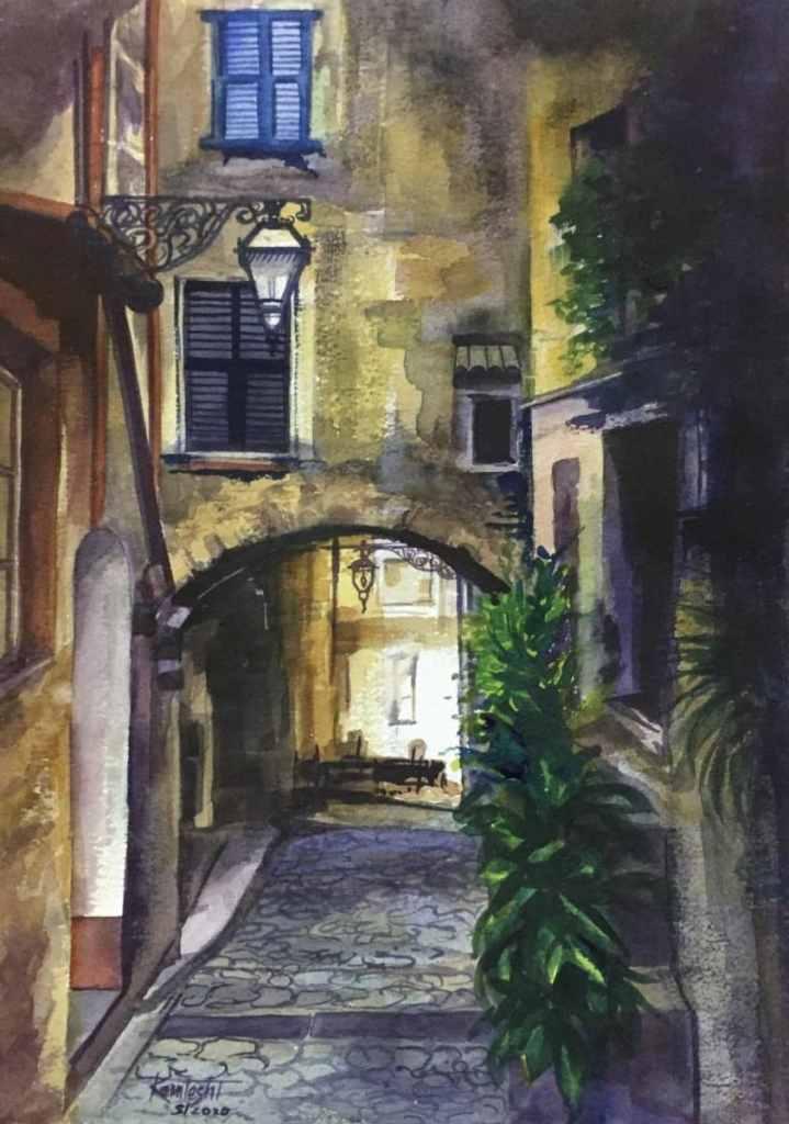 "Watercolor on HM Paper ""Street"" Street – Watercolor"