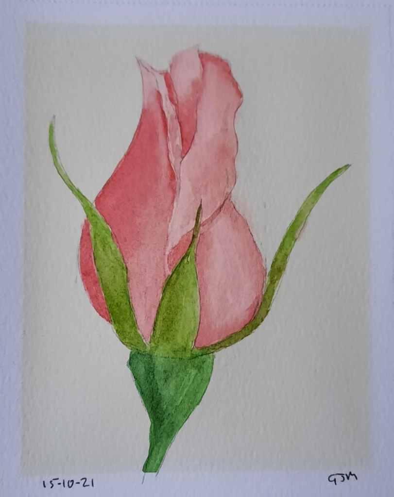 #doodlewashoctober2021 Day 16 Rose. #worldwatercolorgroup 20211015_195113