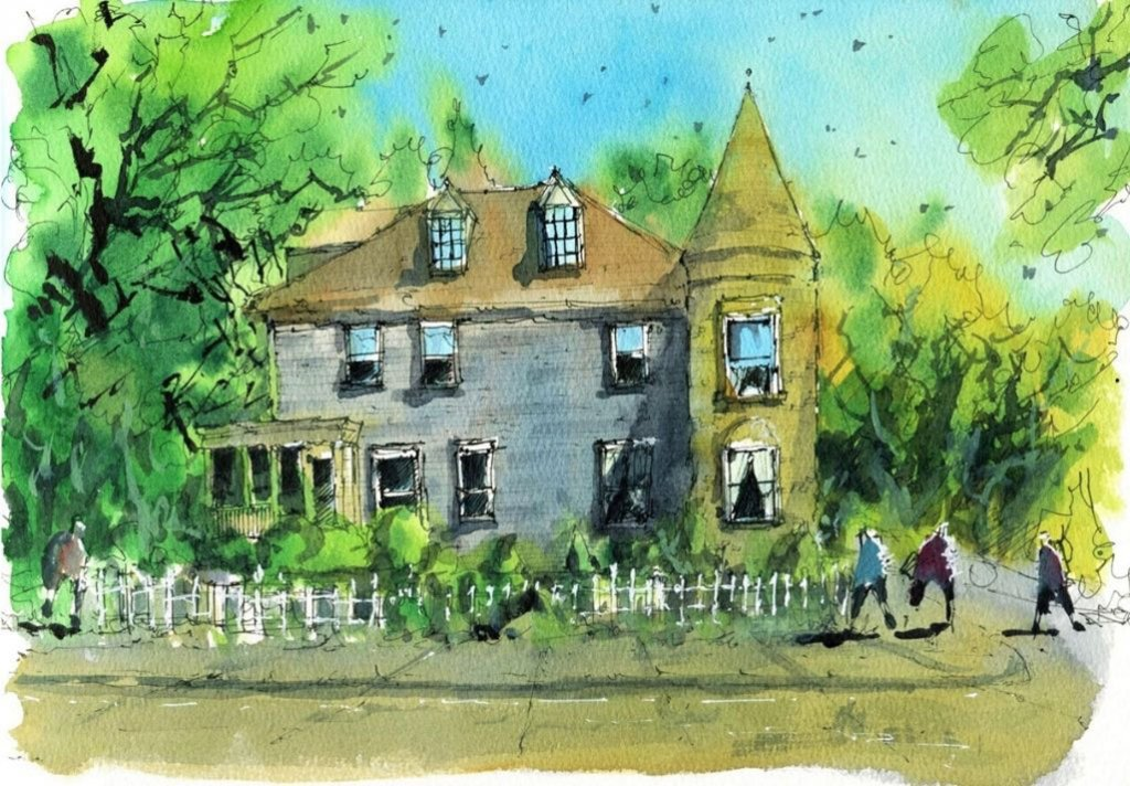 Watercolour House Painting by Darren Yeo