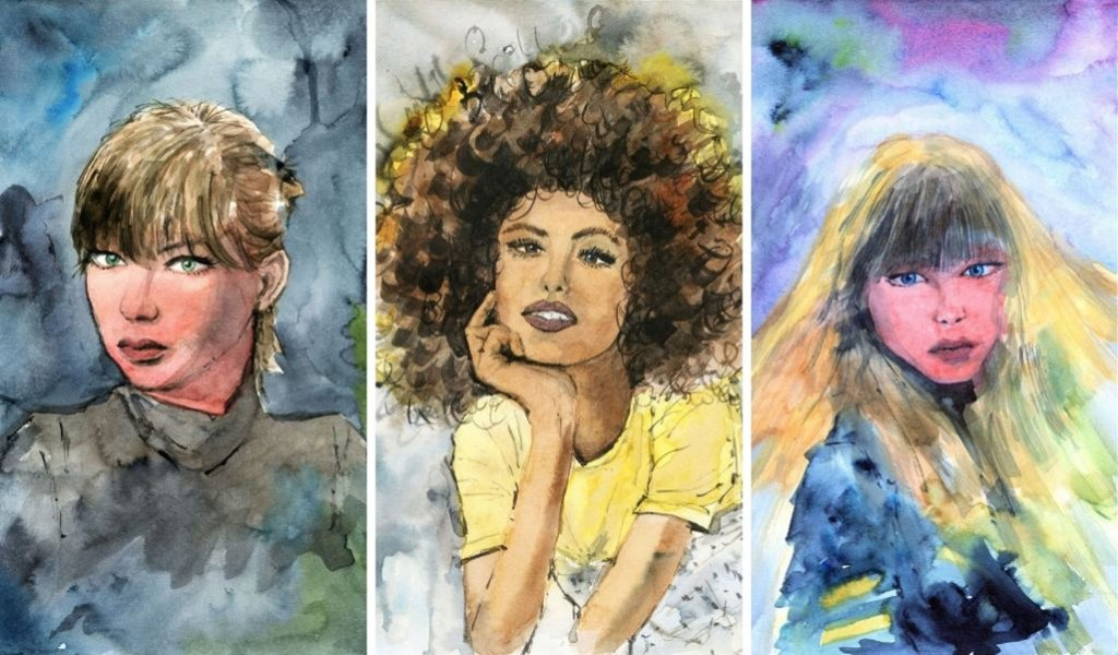 People Portraits Watercolour Painting by Darren Yeo