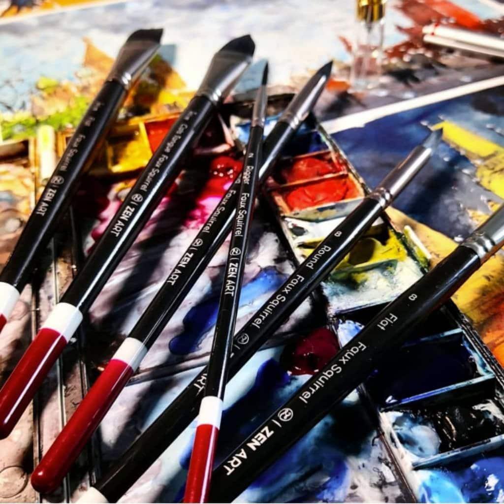 Black Tulip Watercolor Brushes Zen Art