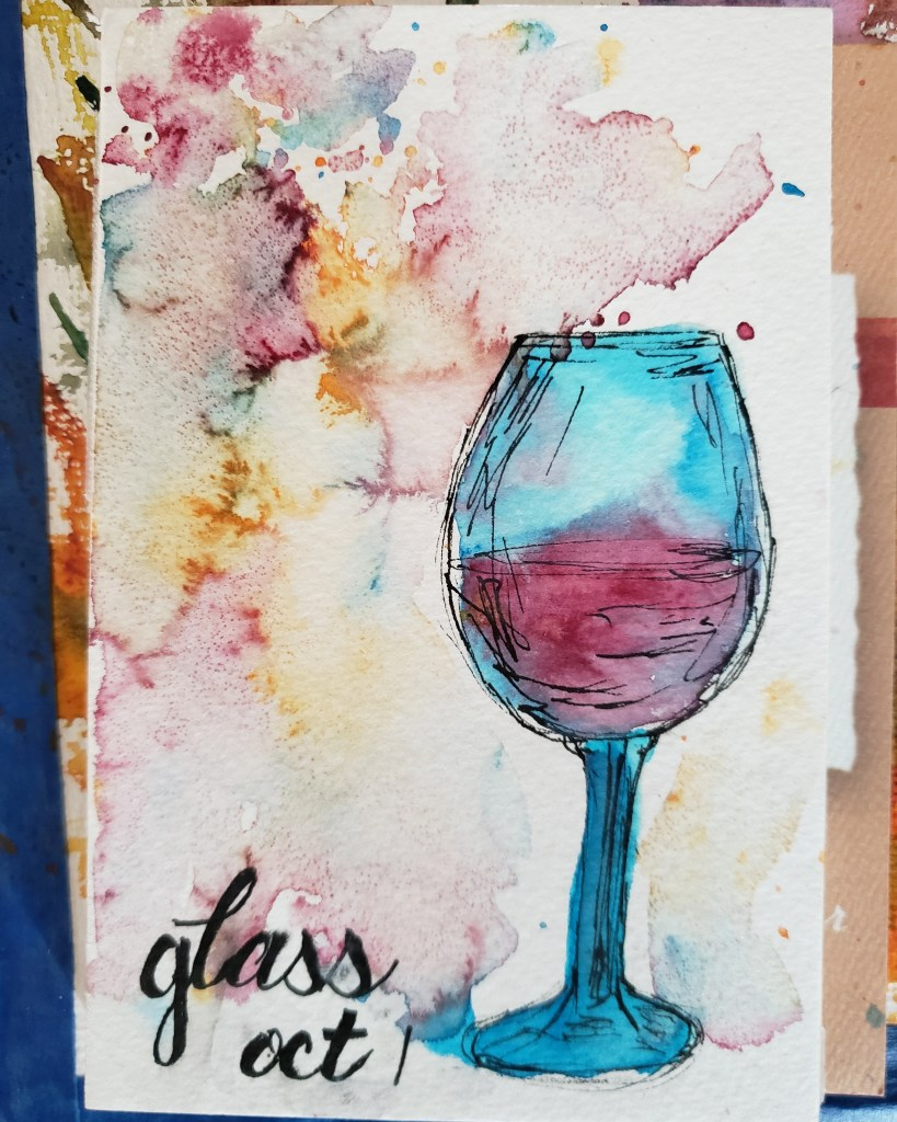 day 1 : glass done using my new viviva colorsheets and their new watercolors. IMG_20211002_115053_82