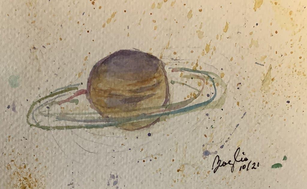 #doodlewashoctober day 19 ring: rings of Saturn IMG_3604