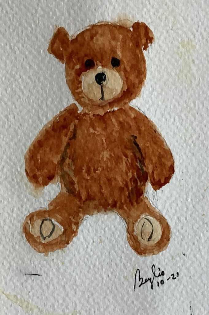 #doodlewashoctober2021 day 21 stuffed animal. IMG_3629