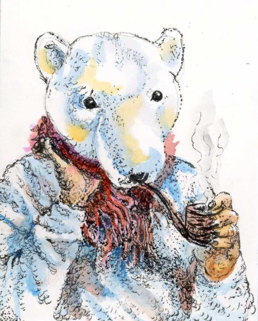 * #DoodlewashOctober2021:Bear. * #Inktober2021 prompt: Pressure. This trick or treater couldn'