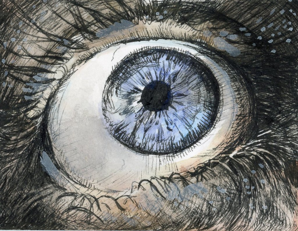 * #DoodlewashOctober2021:Eye. * #Inktober2021 prompt: Watch. Did you know that all humans actually h