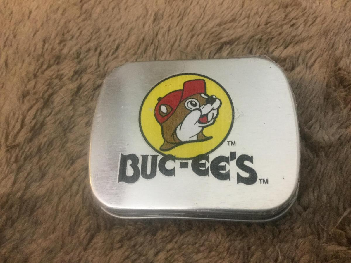 Closed Buccees tin