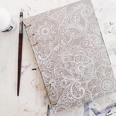 Blue Flower Art Watercolour Book