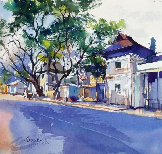 #WorldWatercolorGroup - Watercolor painting by Sadhu Aliyur - Kerala - #doodlewash