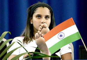 Sania Mirza disresepcting Indian Flag