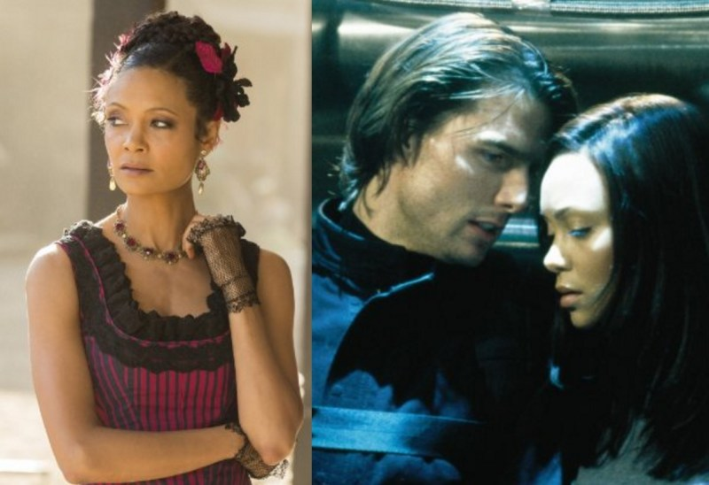 Thandie Newton in Westworld and Mission : Impossible II