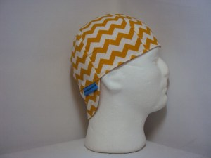 Gold and White Chevrons Welding Cap