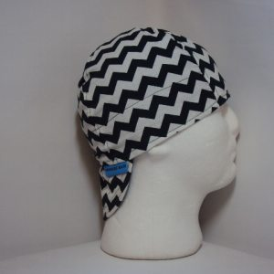 Black and White Chevrons Welding CapWelding Cap