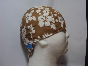 Hibiscus Khaki Welders Cap