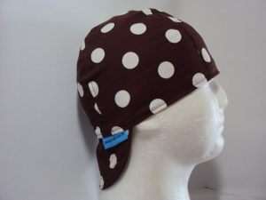 Polka Dots White On Brown Welding Hat