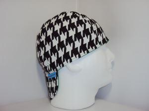 Black/White Houndstooth Welders Hats