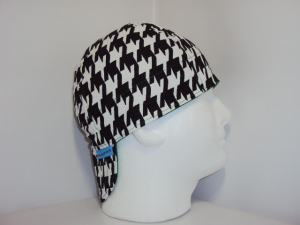 Black/White Houndstooth Welders Hats