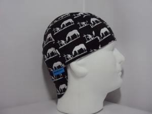 Praying Cowboy and Horse Silhouette Black Welding Cap