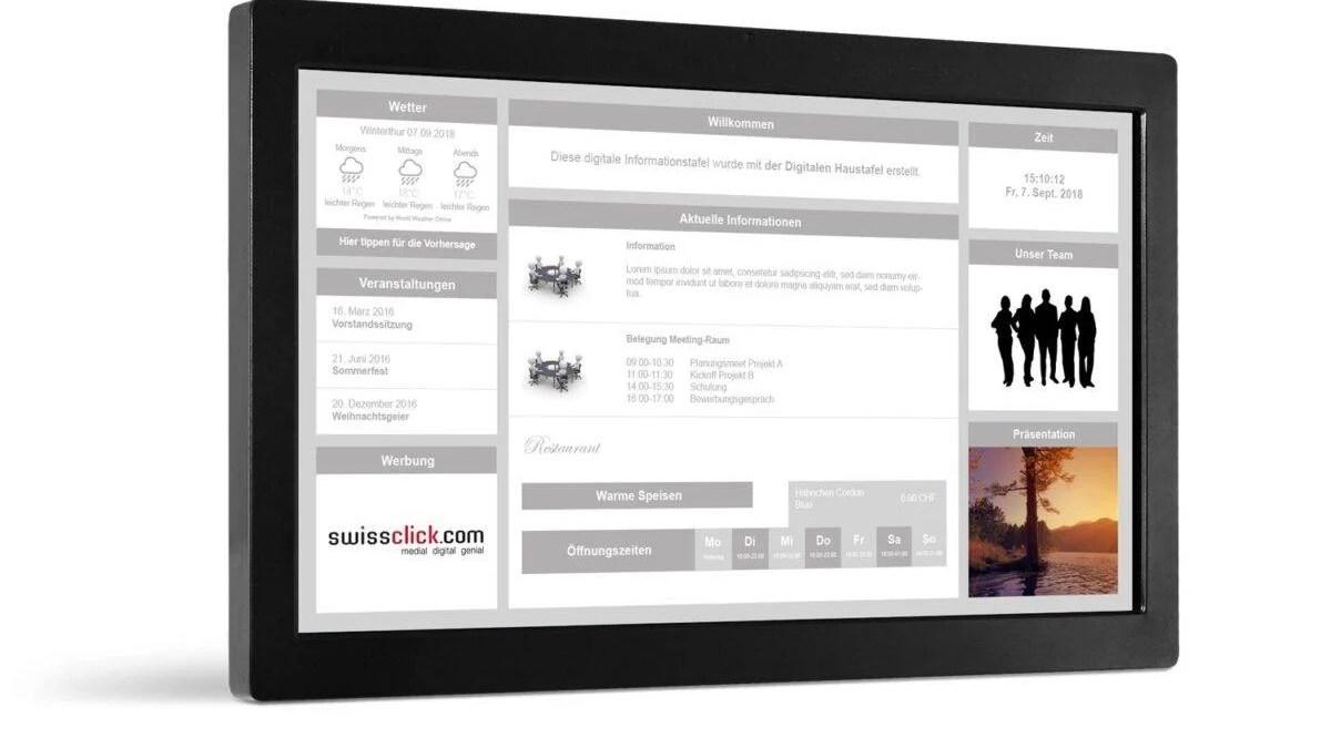 Digitale Haustafel Informationsanzeige Vorlage