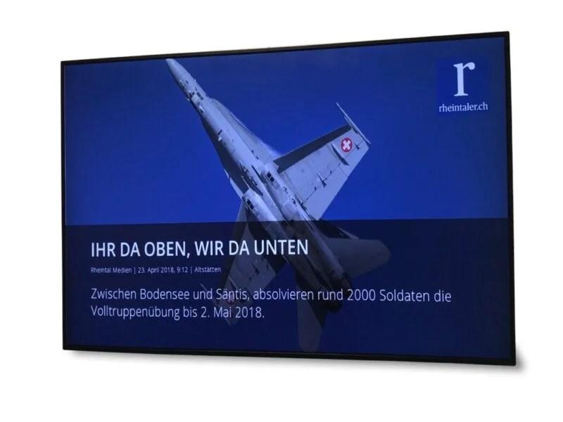 Digitale Infotafel Rheintal Medien