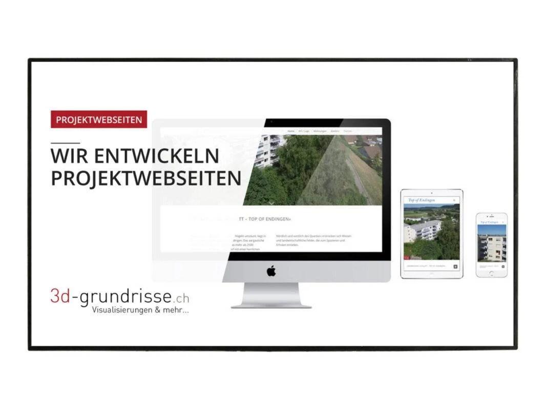 Digitale Werbetafel CMS 3d-grundrisse Projektwebseiten