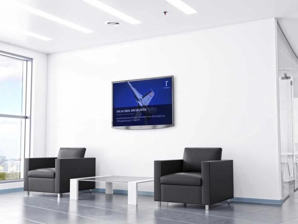Digitale Infotafel Rheintaler Medien Büro