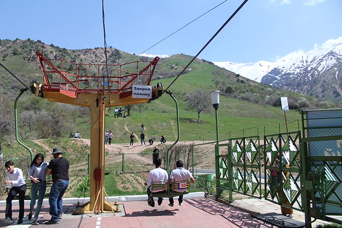 Chair Lift in Chimgan Mountains
