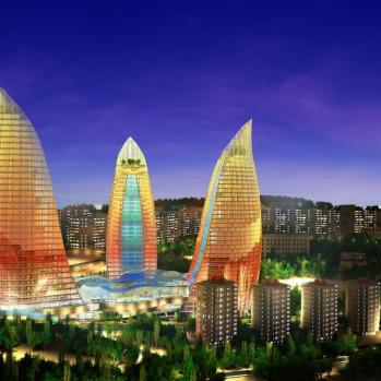 Flame Towers Baku - Evening