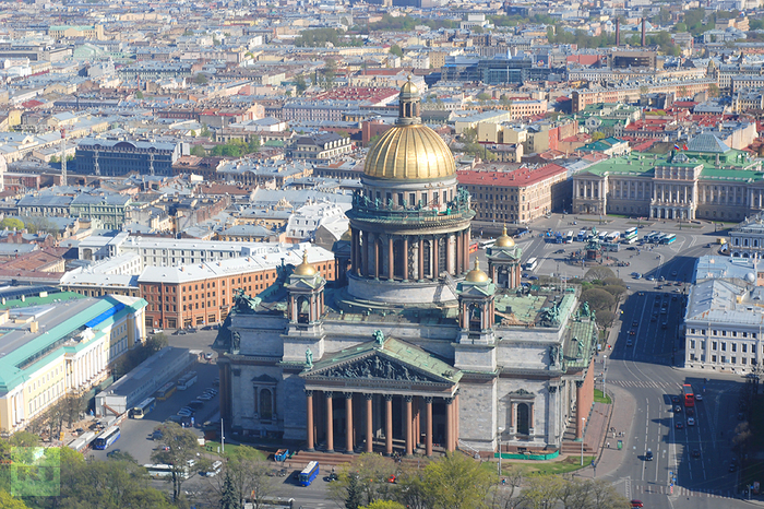 State Museum St. Isaac's Cathedral, St. Petersburg Aerial View