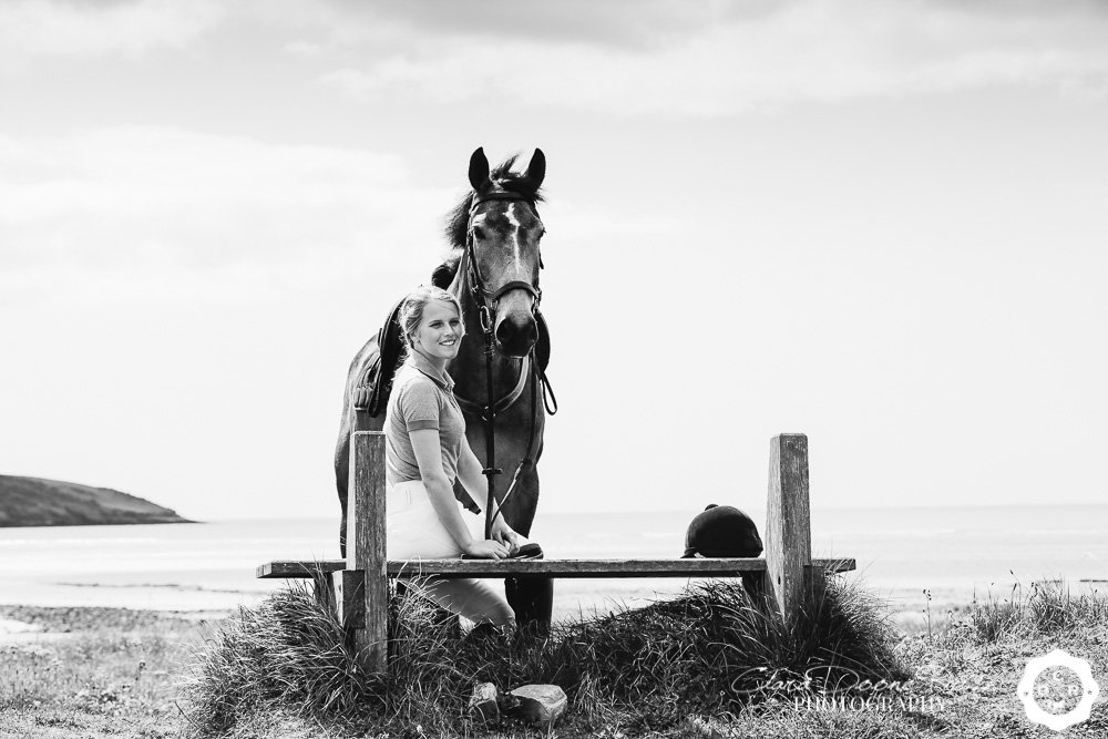 a girl and her pony on a portrait shoot