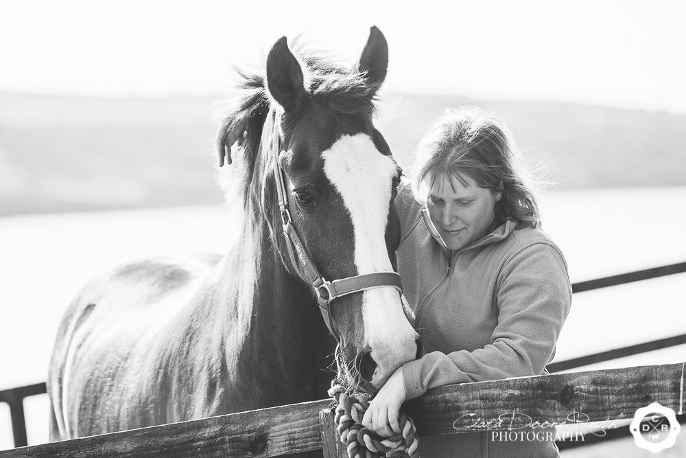 having a moment with her horse
