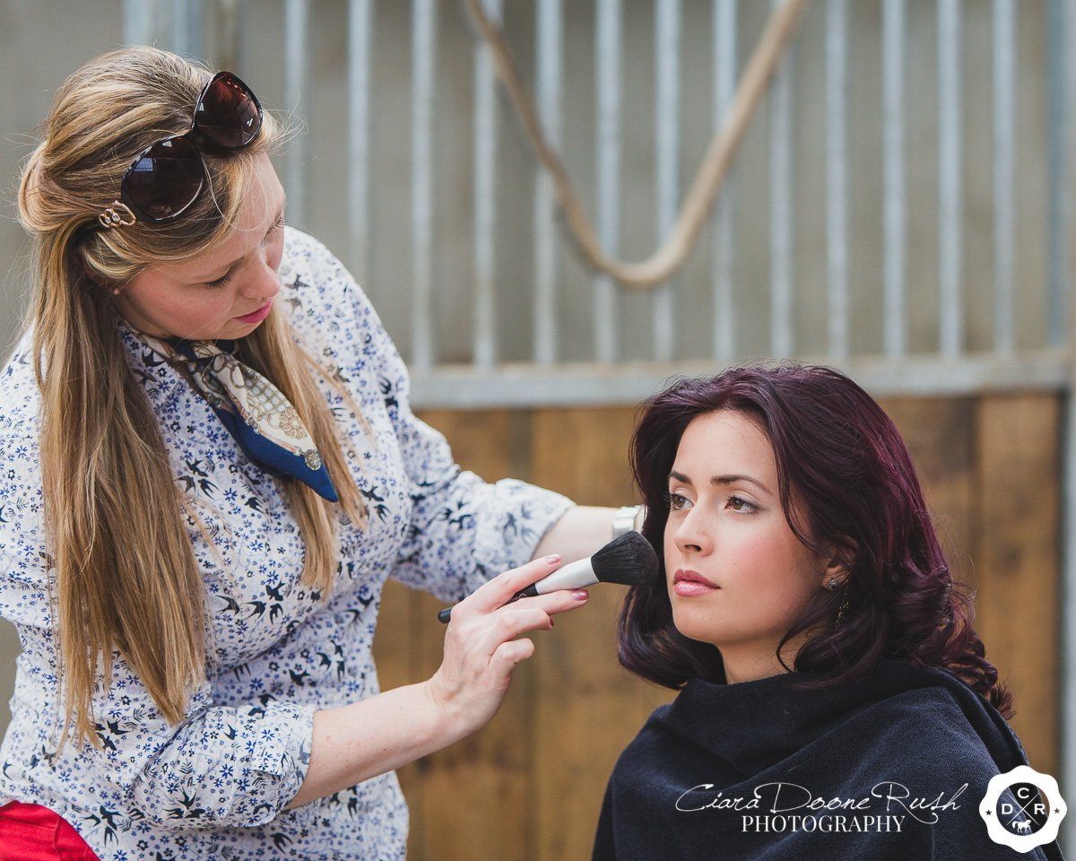 hair and make up in a stable block