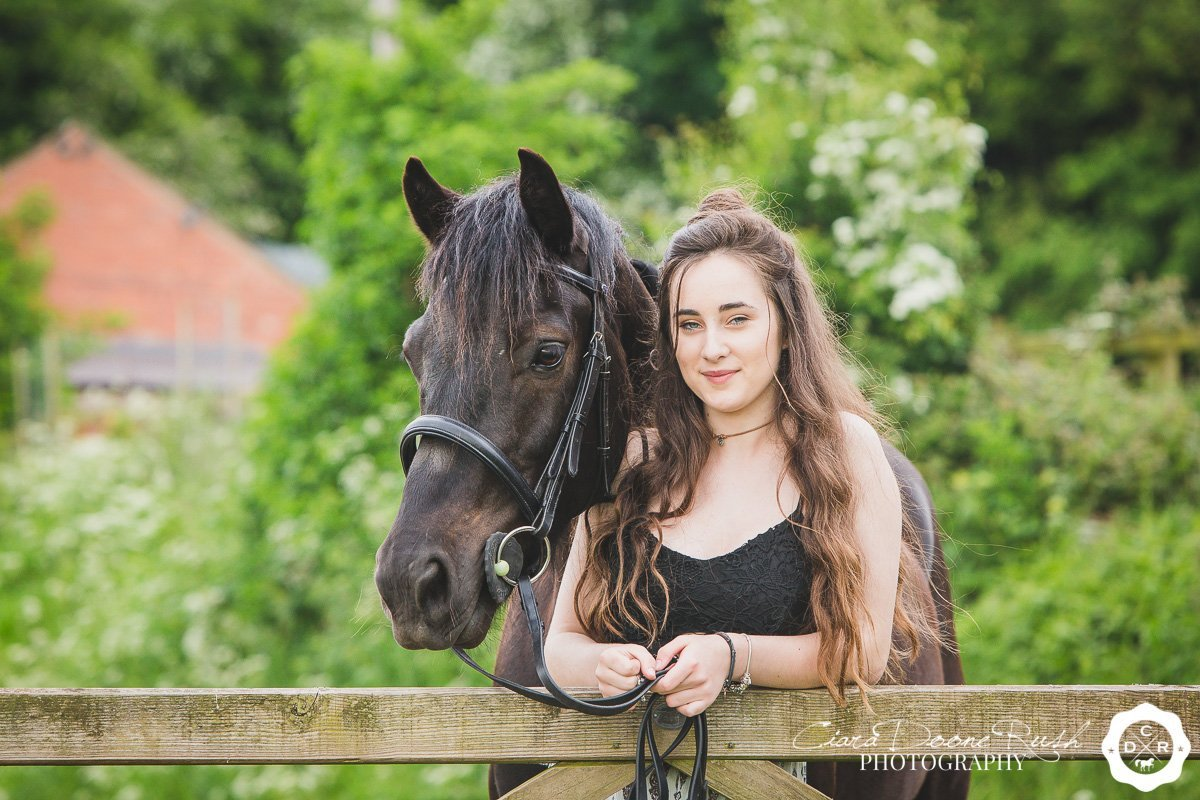 a girl and her welsh pony