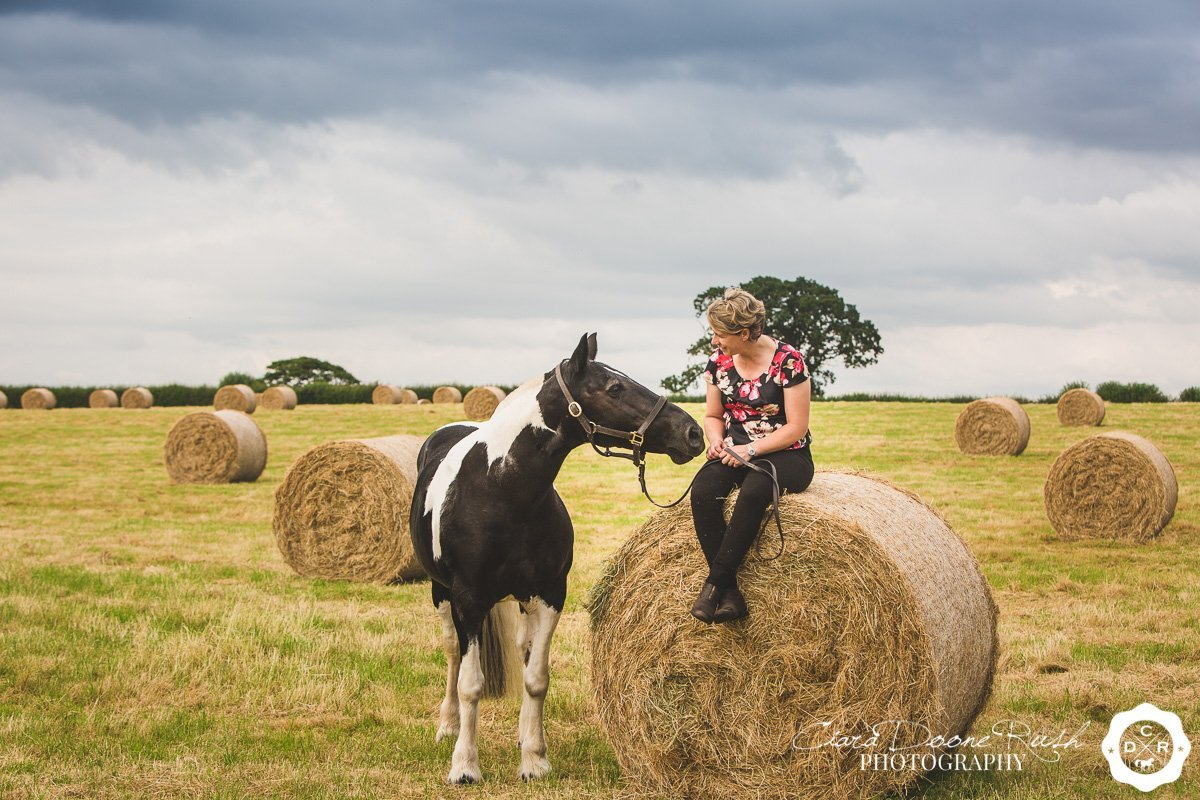 on location in shropshire for a Horse and rider photo shoot