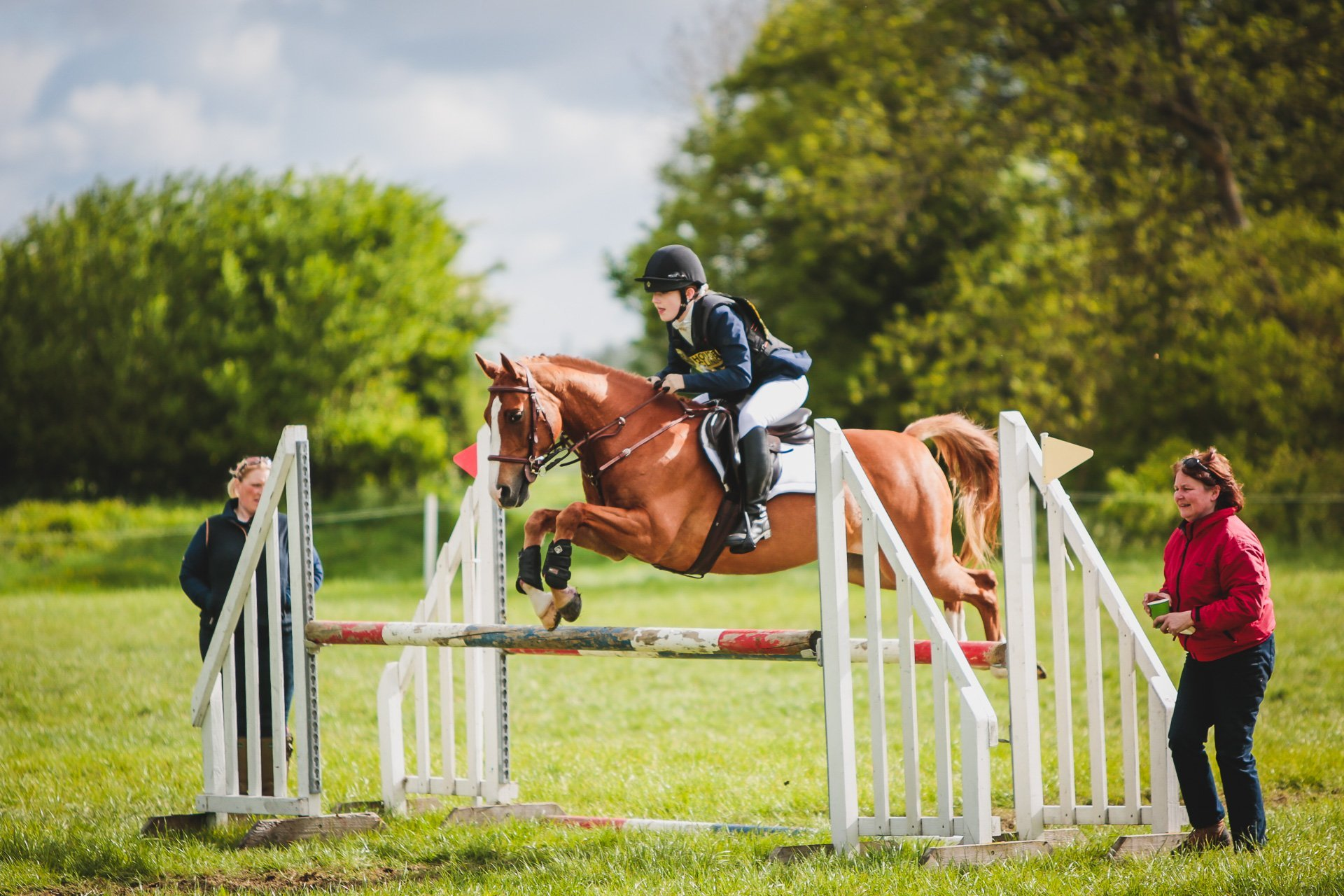 in the sj practice ring at Llanymynech HT