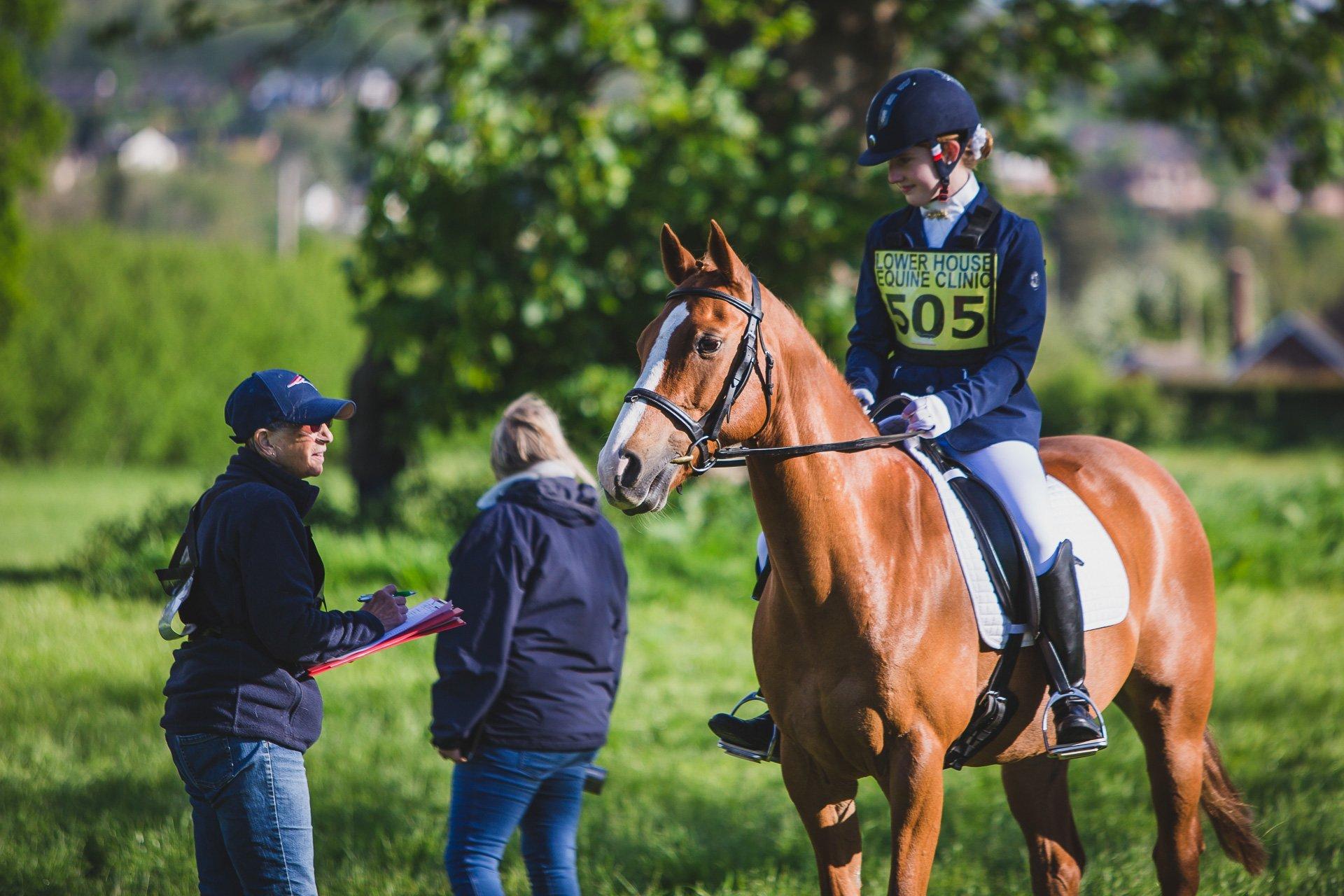 Llanymynech horse trials dressage warm up