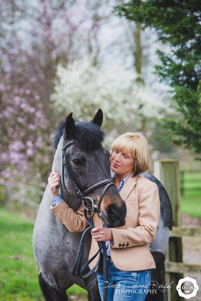 springtime horse and rider photo shoot
