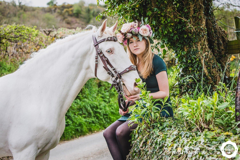 Hero Douglas on a horse and rider photo shoot